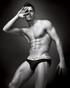 Ronaldo half naked posing