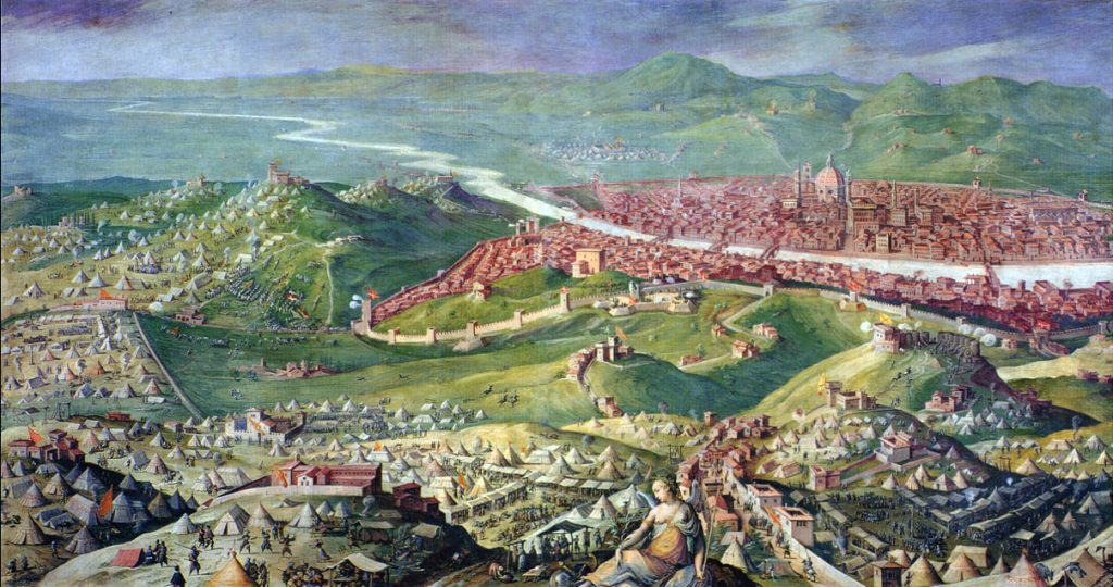 The Siege of Florence by Giorgio Vasari, 1558.