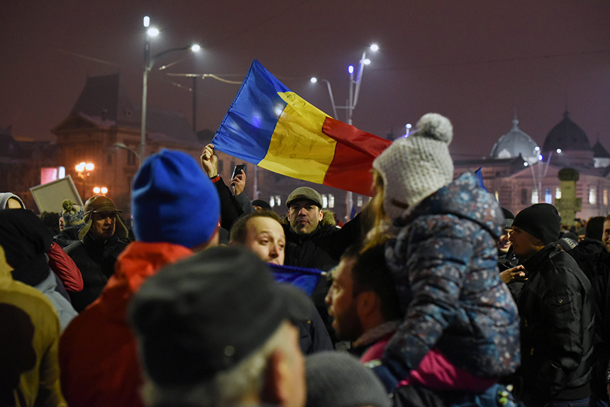 Bucharest Protest 29 Jan 2017