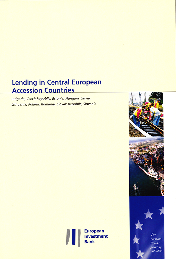 Cover page of the brochure Lending in Central European Accession Countries by the European Investment Bank , 1999 (HAUE, BEI 7074)