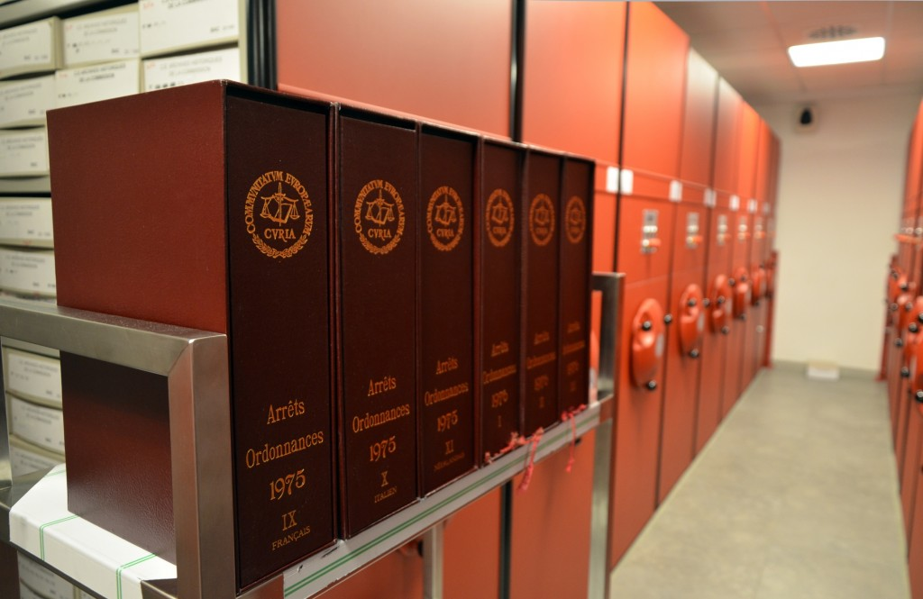 Deposit of the historical archives of the Court of Justice of the European Union at the HAEU, 2014