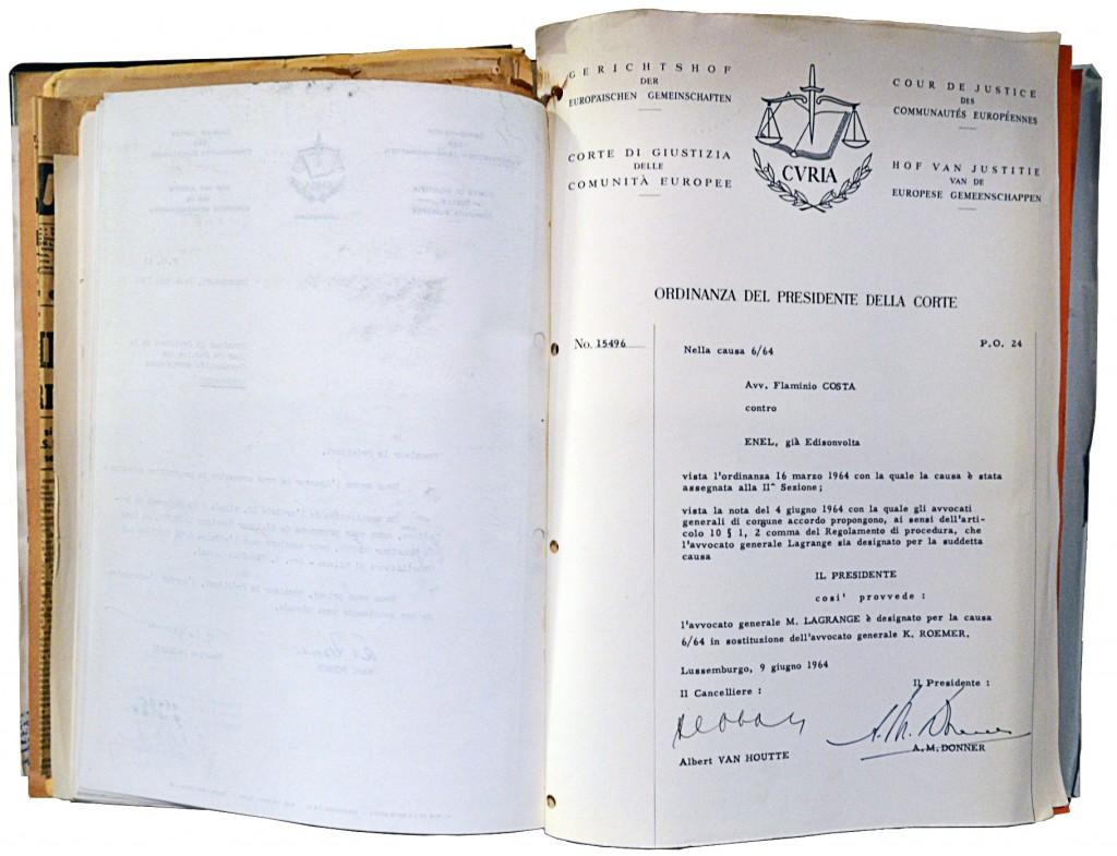 Procedure file of the case Flaminio Costa v E.N.E.L., Case 6/64, HAEU, CJUE-838