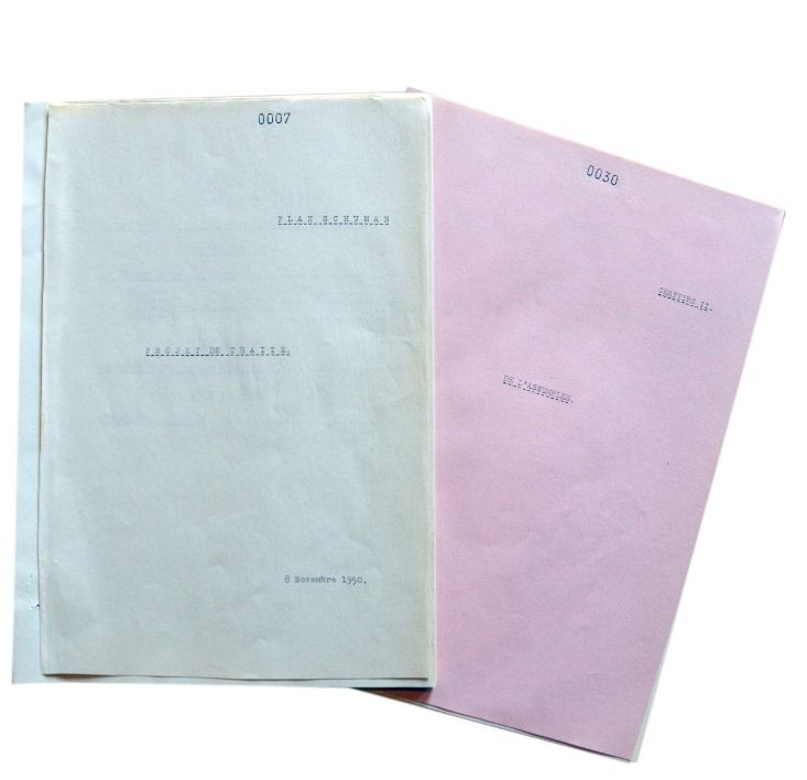 Text of the first draft of the founding Treaty of the European Community for Coal and Steel