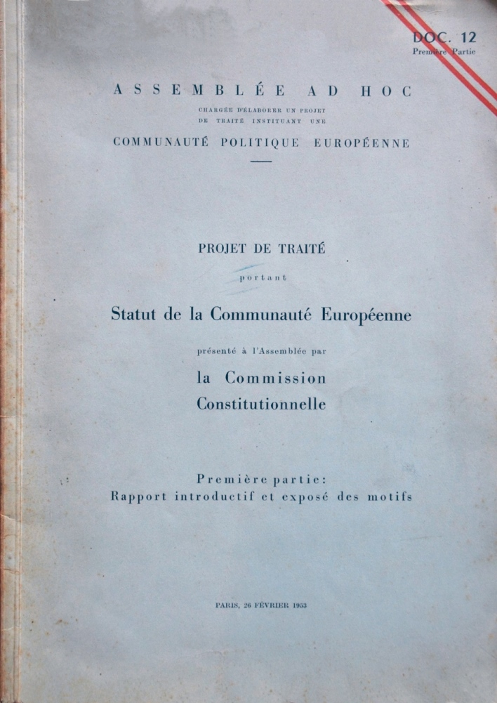 Text published for the establishment of a European Political Community