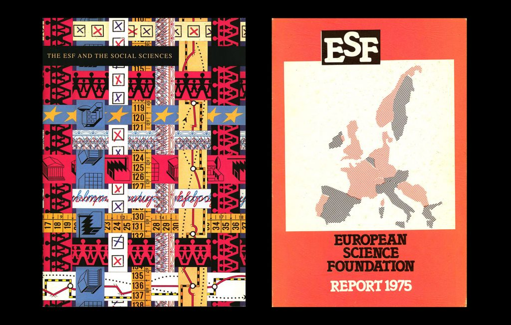 Two brochures: The ESF and Social Sciences and ESF European Science Foundation - Report 1975 (HAEU, ESF publications)