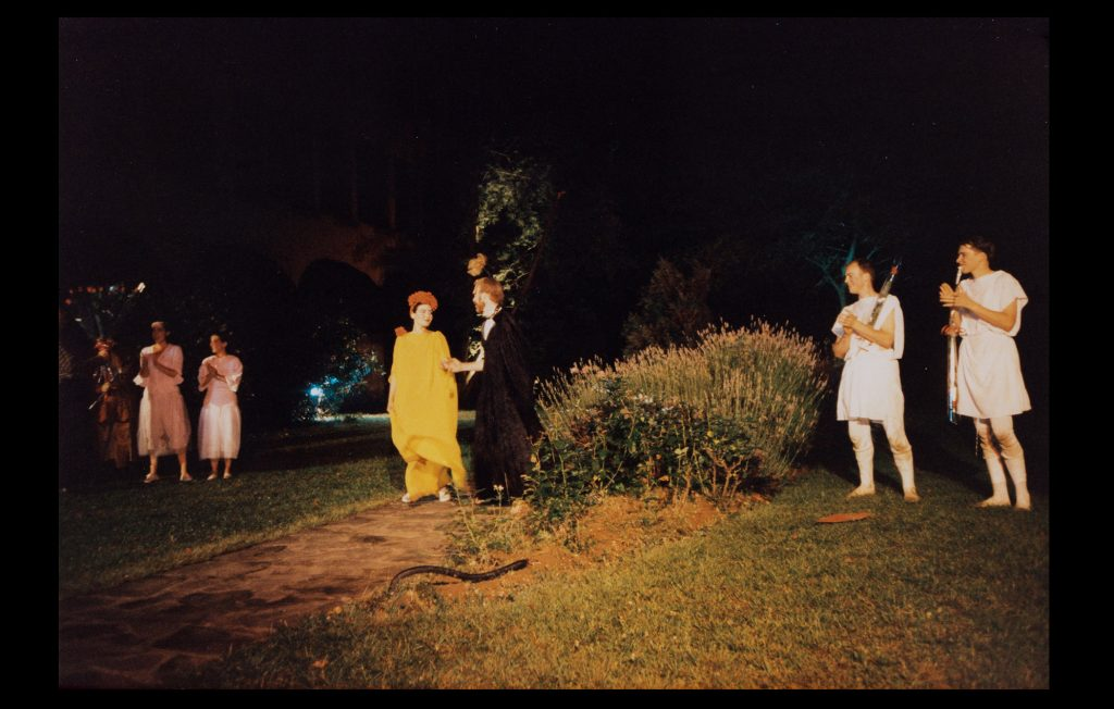 "Researchers perform ""A Midsummer Night's Dream"" at the Badia in the early 80´s (Beatrijs De Hartogh / Private collection)"