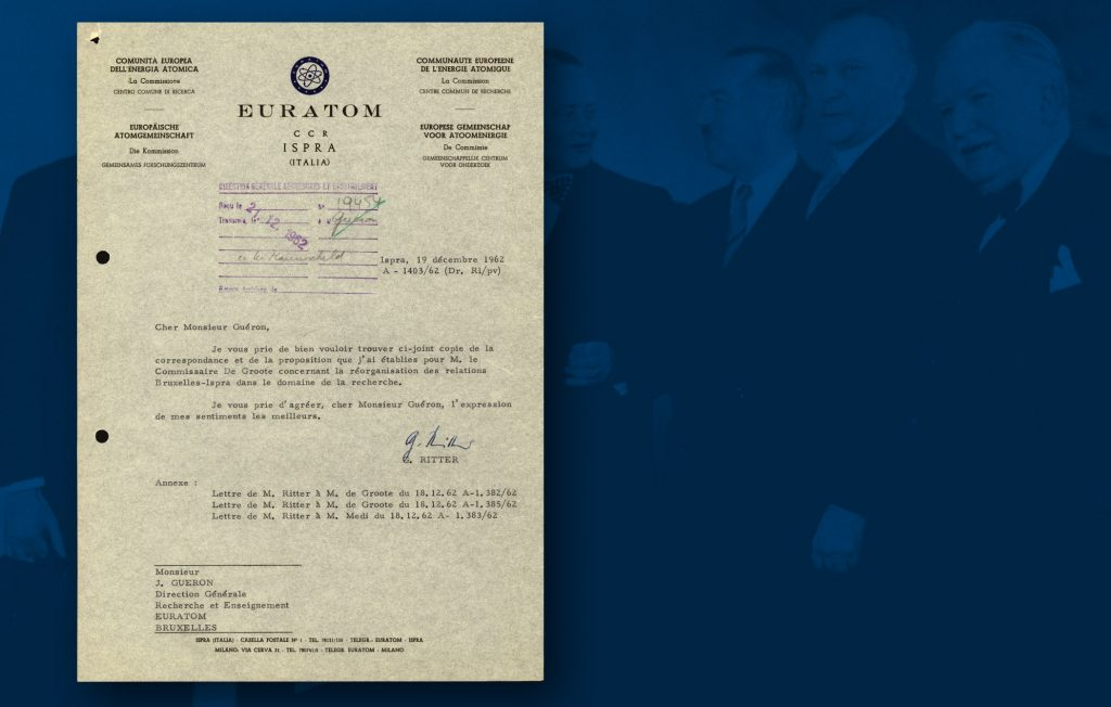 Document from the joint research centre established by EURATOM as envisaged by the Treaty, to encourage collaboration between national scientific research centres particularly in the nuclear sphere (HAEU)