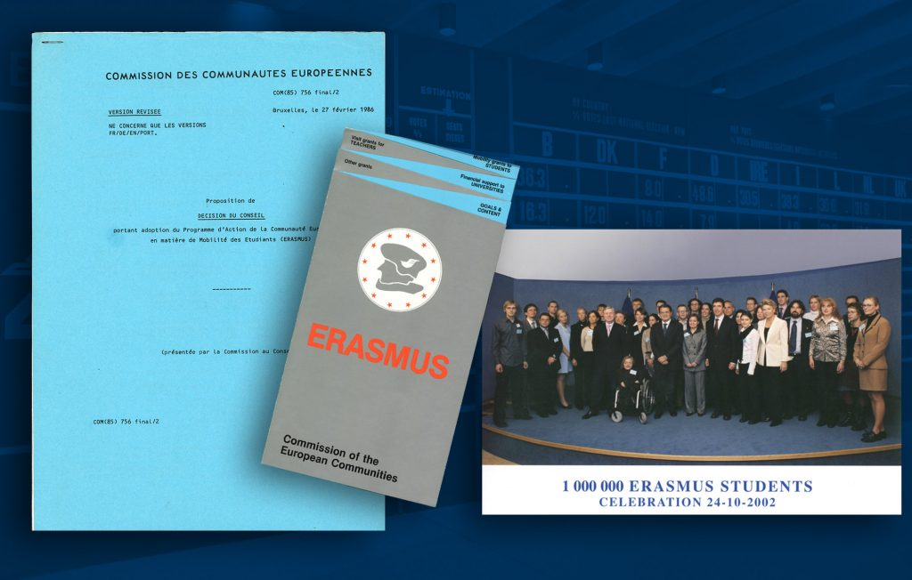 Proposal for a Council decision on the adoption of the ERASMUS Programme, 1986 (HAEU) / An explanatory brochure of the ERASMUS Programme (HAEU) / Celebrations organised by the European Commission on reaching the landmark of 1 million ERASMUS students (HAEU)