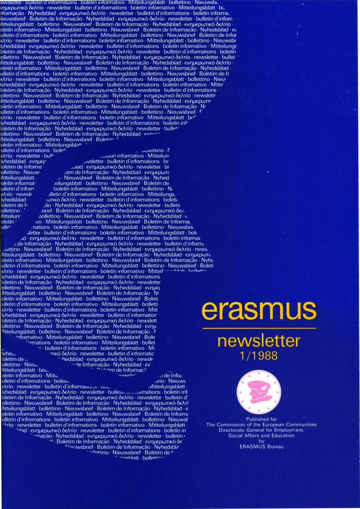 The first edition of the 1998 Erasmus Newsletter (HAEU, PSP 330).