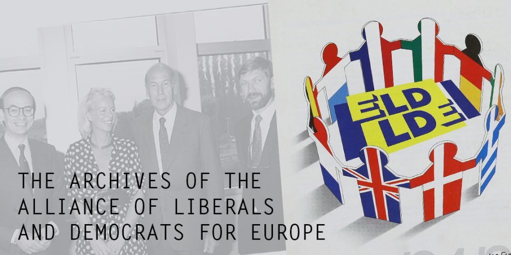 "At the occasion of the opening of the archives of the ALDE Group in the European Parliament, a selection of historical documents of the Group was exhibited at the venue of the conference ""40 years European elections 1979-2019"" in Florence, 22-23 November 2018. The ALDE Group deposited its archives at the HAEU in Florence with an agreement signed in 2013. The documents and photos on display, such as the inscription form of René Pleven to the Groupe des libéraux et apparentés of the European Parliamentary Assembly signed on 19 March 1958,  a letter on the proposal for the candidacy of Simone Veil for the presidency of the European Parliament in 1979, and a photo taken during the Congress of Liberals and European Democrats in Catania on April 1986 with Karel De Gucht, Simone Veil and Martin Bangemann, cover some key historical moments of the Political Group."