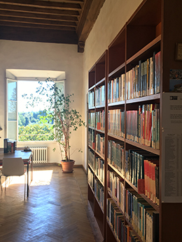 The Economics Departmental Library, second floor of Villa La Fonte