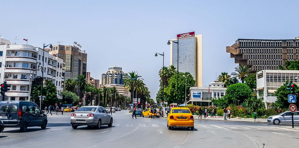 Tunis, Tunisia, July 01, 2018: City street.; Shutterstock ID 1159404115; Purchase Order: Medirection