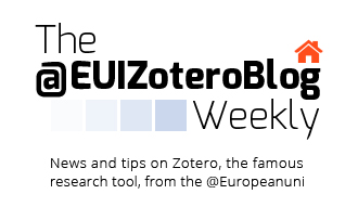 Zotero Weekly